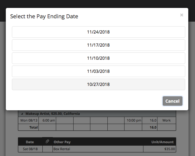 Crew Portal My Crew Copy Pay Ending List