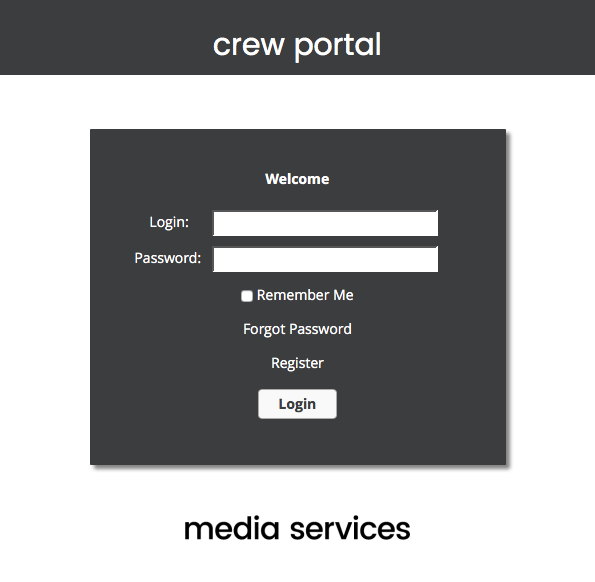Crew Portal Logging In