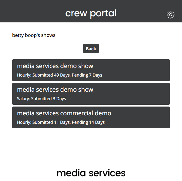 Crew Portal Show overview